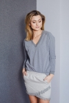 Bluza Basic V-neck Dark Grey