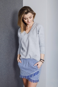 Bluza Basic V-neck Grey